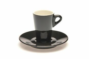 ELEGANT TAZZE CAFFÈ CON PIATTO MARA BLACK   Alessandrelli Business Solutions