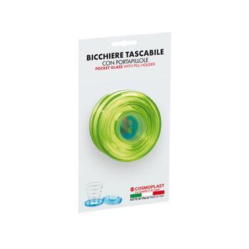 BICCHIERE TASCA GRANDE CON PORTA PILLOLE    Alessandrelli Business Solutions