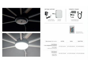 KIT LUCI LED COMPLETO PER OMBRELLONE GALAXIA    Alessandrelli Business Solutions