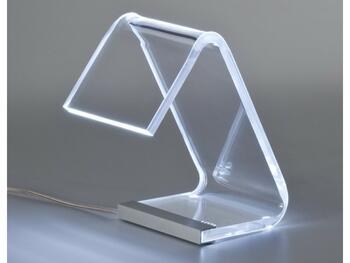 LAMPADA TAVOLO C/LED TRASPARENTE   Alessandrelli Business Solutions